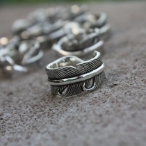 Feather Ring Silver 925 at Blisby