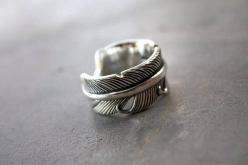 Feather Ring Silver 925 large image 1 by YellowSubmarine