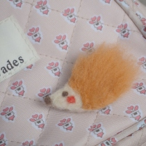 needle felt brooch : porcupine at Blisby