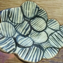 Ceramic handmade food plate at Blisby