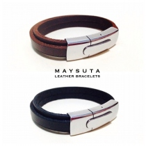 Maysuta Leather Bracelets (MS2) at Blisby