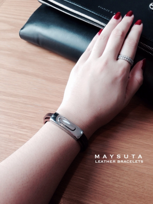 Maysuta Leather Bracelets (MS2) large image 4 by Maysuta