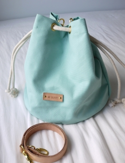 Mint Candy Canvas Bucket Bag large image 0 by bebrave