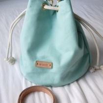 Mint Candy Canvas Bucket Bag at Blisby
