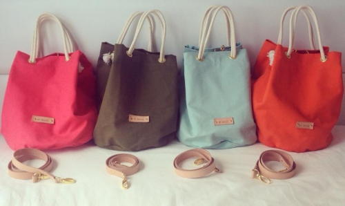 Mint Candy Canvas Bucket Bag large image 2 by bebrave