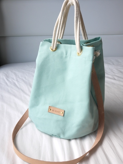Mint Candy Canvas Bucket Bag large image 3 by bebrave