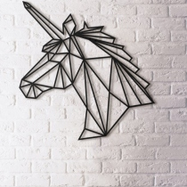 Metal Wall Decor - Unicorn (size 50x53.5 cm) at Blisby