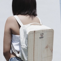 Backpack from wood at Blisby