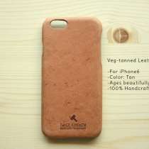 iPhone 6 Veg-tanned leather case at Blisby