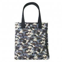 Camo brown tote at Blisby