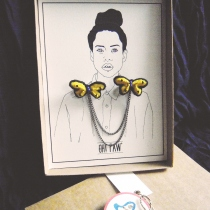 butterfly collar brooch at Blisby