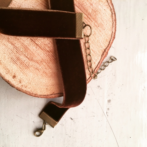 Brown Velvet Ribbon Choker large image 0 by Niminalistic