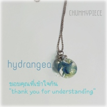 hydrangea flower necklace at Blisby