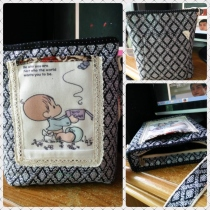 handback size19x20 cm. thai pattern cotton at Blisby