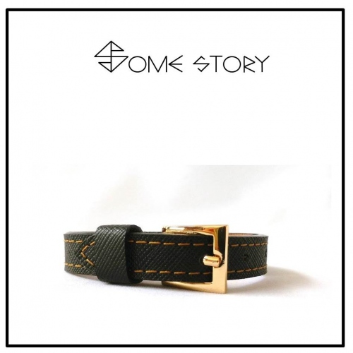 Saffiano Black Leather Wrist Belt by SOME STORY large image 0 by somestory