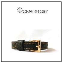 Saffiano Black Leather Wrist Belt by SOME STORY at Blisby