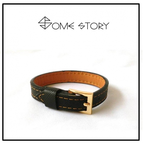 Saffiano Black Leather Wrist Belt by SOME STORY large image 1 by somestory