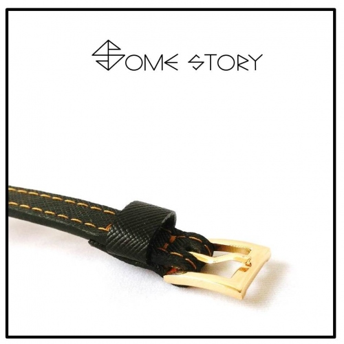 Saffiano Black Leather Wrist Belt by SOME STORY large image 2 by somestory