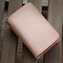 Middle Long Wallet English Cowhide High Quality Veg. Tanned 100% at Blisby