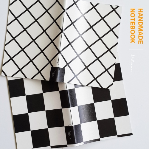 handmade notebook : chequer large image 0 by vhannlittle