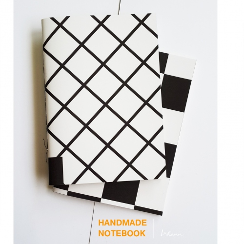 handmade notebook : chequer large image 1 by vhannlittle