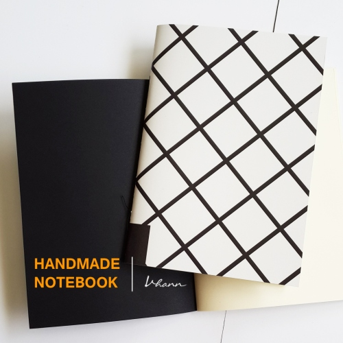 handmade notebook : chequer large image 2 by vhannlittle