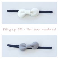 Felt bow headband at Blisby