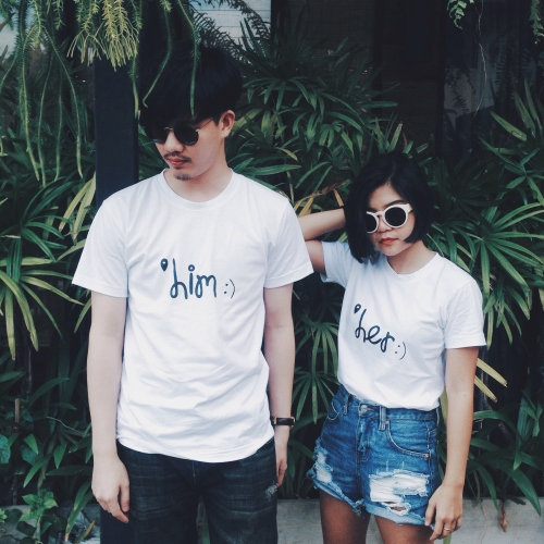 him :) and her :) T-shirt design by KASAMA large image 0 by kasamadesign