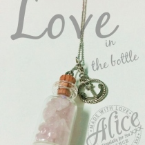 Love in the bottle + charm at Blisby