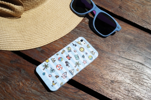 เคส iPhone 5/5s Summer Collection (ลายทางสีฟ้า) large image 0 by storebylala