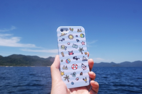 เคส iPhone 5/5s Summer Collection (ลายทางสีฟ้า) large image 2 by storebylala