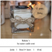 Soy candle scent at Blisby