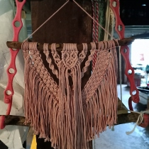 macrame wall hanging at Blisby