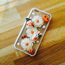 IPhone case pastel rabbits flower for Halloween  at Blisby