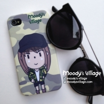 Maki Camouflage Handmade Phone Case Moody Cute Cartoon, iPhone Galaxy at Blisby