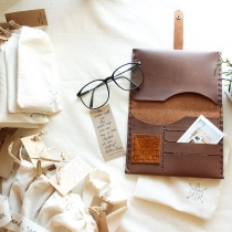 Leather Phone Clutch and Card Holder  at Blisby