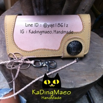 Leather wallet long creamy yellow. at Blisby