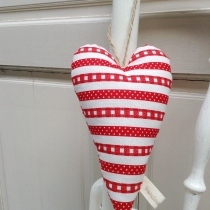 Heart Hanging {striped}  by HandmadeMania