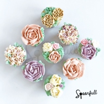 Flower Buttercream Cupcake ชุดคัพเค้กดอกไม้ (made to order) at Blisby