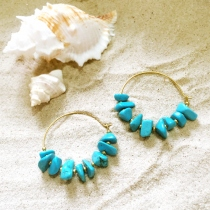 Jagged Turquoise Earring at Blisby