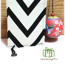 Black and white passport case at Blisby