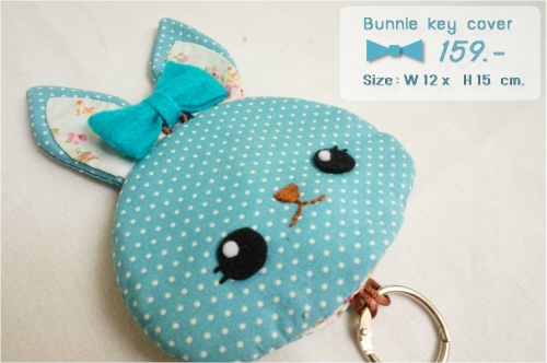 Bunnie key cover [turquoise] large image 0 by wanwawsweet