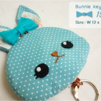 Bunnie key cover [turquoise] at Blisby