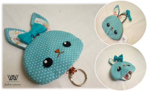 Bunnie key cover [turquoise] large image 1 by wanwawsweet