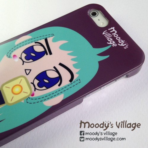 Turquoise Portrait, Phone Case Moody Cute Cartoon,iPhone&Galaxy large image 1 by moodysvillage
