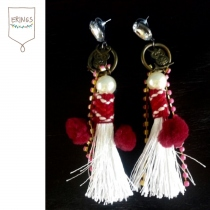 Bohemian Tassel Earring - Red at Blisby
