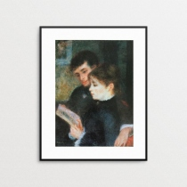 Two People Reading by Pierre Auguste Renoir (ภาพพิมพ์) at Blisby