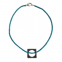 Circle of Love Pendant Handmade Natural Turquoise Stone Necklace at Blisby