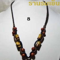 สร้อยคอ * 8 * Tiger Eye+Goldstone at Blisby