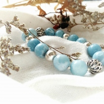 Natural Blue Agate and 92.5% stering silver at Blisby